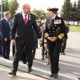 La princesse Anne, accompagnée en Russie par son mari le vice-amiral Timothy Laurence, célébrait le 31 août 2016 au mémorial britannique du cimetière Vologodskoye à Arkhangelsk le 75e anniversaire des premiers convois de l'Arctique durant la Seconde Guerre mondiale.