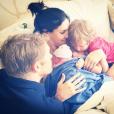 Daniela Ruah a accouché d'une petite fille dont elle a publié une photo sur les réseaux sociaux. Photo publiée le 8 septembre 2016 sur Instagram.