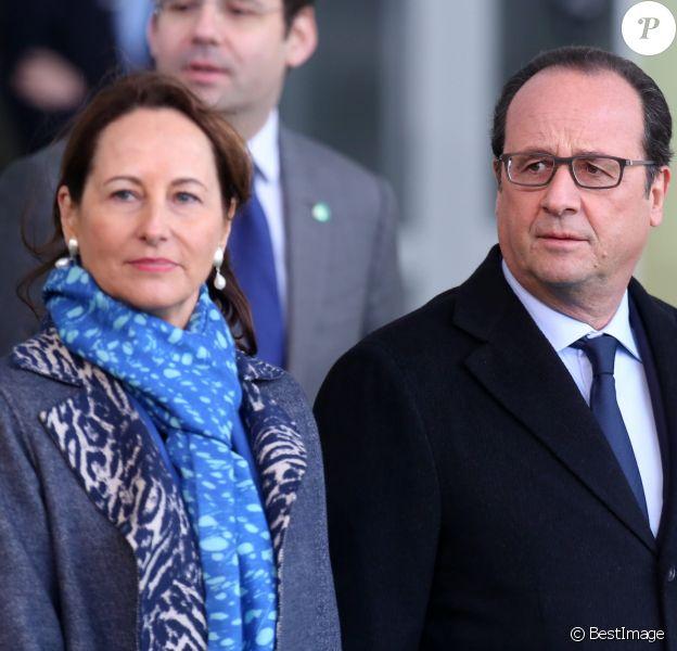 Ségoléne Royal, François Hollande - Arrivées des 150 chefs d'Etat pour le lancement de la 21e conférence sur le climat (COP21) au Bourget le 30 novembre 2015. © Dominique Jacovides / Bestimage