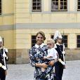 La princesse Madeleine de Suède et le prince Nicolas au baptême du prince Alexander de Suède au palais Drottningholm à Stockholm le 9 septembre 2016