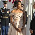 Le président américain Barak Obama et sa femme Michelle Obama lors du dîner du sommet des chefs d'Etat de cinq pays nordiques à Washington, le 14 mai 2016