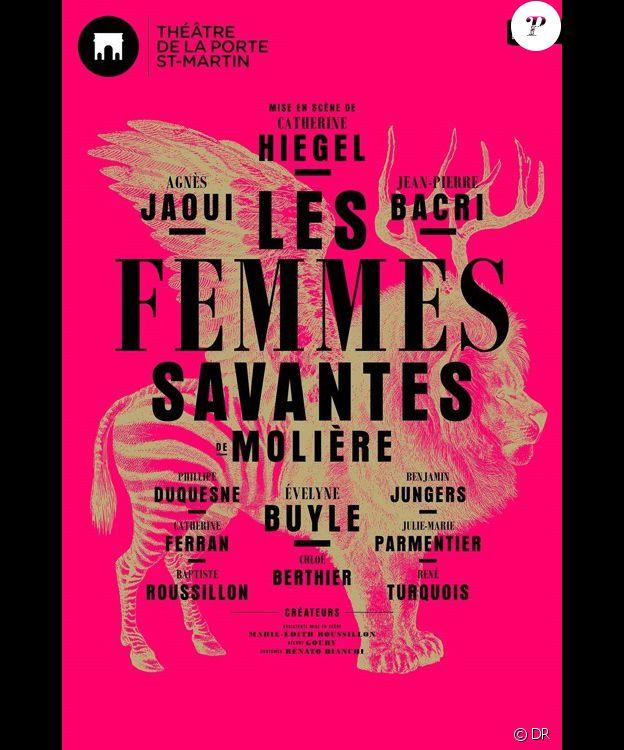 Affiche du spectacle Les Femmes savantes au théâtre de la Porte Saint-Martin