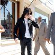 Michael Jackson fait les boutiques sur Melrose Avenue, le 23 octobre 2008