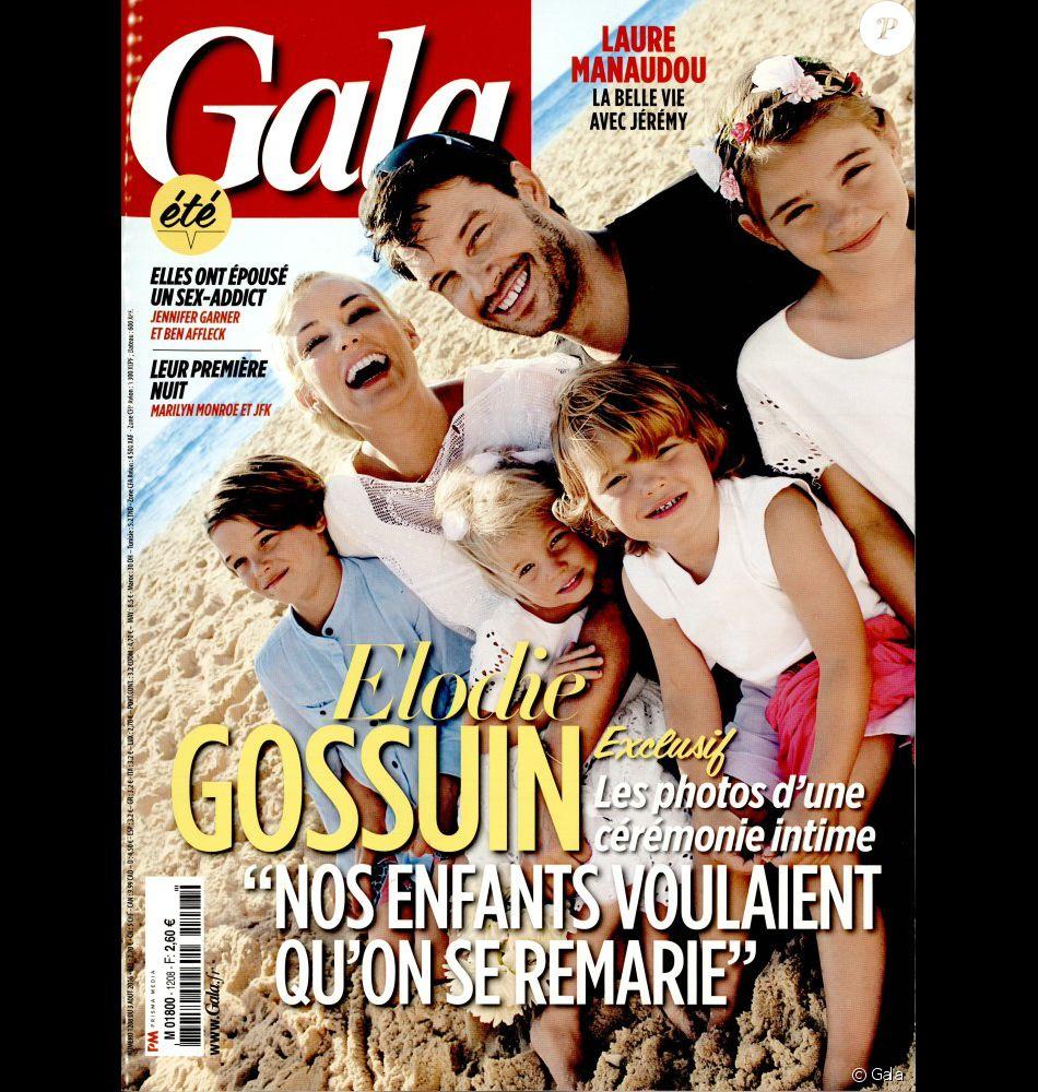 Elodie gossuin avec son mari bertrand et leurs enfants en couverture de gala le 3 ao t 2016 - Elodie gossuin et bertrand lacherie ...