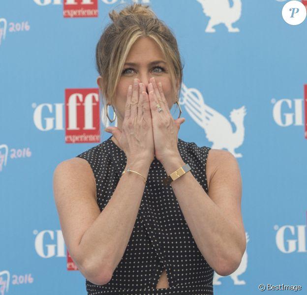 Jennifer Aniston à la 46e édition du Festival du film de Giffoni en Italie, le 23 juillet 2016