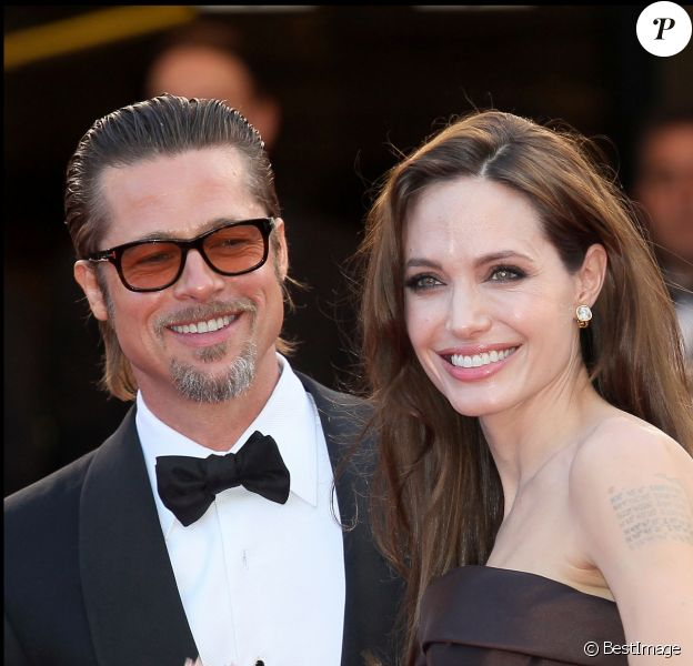 Brad Pitt et Angelina Jolie à Cannes en 2011.