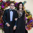 Bertrand Burgalat et sa femme Vanessa Seward lors du Gala d'ouverture de l'Opéra National de Paris pour la saison 2016/2017, le 24 septembre 2016