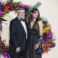Jean-Louis Beffa et une invitée lors du Gala d'ouverture de l'Opéra National de Paris pour la saison 2016/2017, le 24 septembre 2016