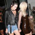 Kendall et Kylie Kylie Jenner de sortie à West Hollywood avec Tyga pour l'anniversaire de Jordyn Woods à Los Angeles le 22 septembre 2016