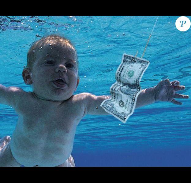 """Spencer Elden sur la pochette de l'album """"Nevermind"""" de Nirvana"""