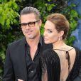"""Angelina Jolie et Brad Pitt - Première du film """"Maleficent"""" à Londres le 8 mai 2014."""