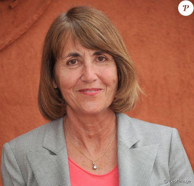 Christine Albanel posant au village des Internationaux de France de tennis de Roland Garros à Paris, le 3 juin 2014.