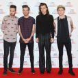 Liam Payne, Louis Tomlinson, Harry Styles et Niall Horan (du groupe One Direction) à la soirée des BBC Music Awards 2015 à Birmingham, le 10 décembre 2015.