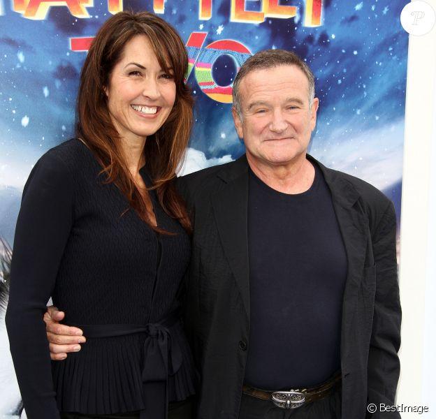Robin Williams, Susan Schneider - Première de Happy Feet à Los Angeles, le 23 novembre 2011