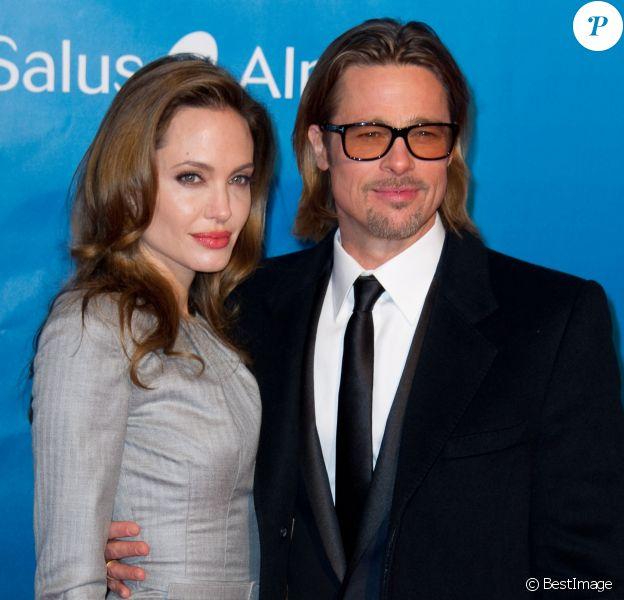 Brad Pitt et Angelina Jolie a la soiree de Gala: Cinema for Peace 2012, a Berlin le 13 février 2012