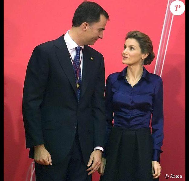 Letizia d'Espagne et son mari Felipe
