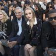 Courtney Love, Patrick Demarchelier, Lily-Rose Depp et Usher-Défilé Chanel (collection prêt-à-porter printemps-été 2017) au Grand Palais. Paris, le 4 octobre 2016.© Olivier Borde / Bestimage