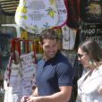 Kelly Brook et son petit ami Jeremy Parisi se baladent dans les rues de Ischia, le 14 juillet 2016