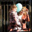 Michelle Hunziker fête son deuxième anniversaire de mariage et les 3 ans de sa fille Sole Trussardi au restaurant Trussardi à Milan, Italie, le 10 octobre 2016.