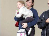 REPORTAGE PHOTO : Jennifer Garner,  au terme de sa grossesse... elle continue à courir partout !