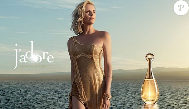 """Charlize Theron, photographiée par Jean-Baptiste Mondino, pour la nouvelle campagne du parfum """"J'adore"""" de Christian Dior, octobre 2016."""