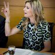 La reine Maxima des Pays-Bas participe à une réunion sur le développement à Buenos Aires le 11 octobre 2016. Elle est l'avocate spéciale auprès du secrétaire général des Nations Unies Ban Ki-moon pour la finance inclusive. 11/10/2016 - Buenos Aires