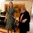 La reine Maxima des Pays-Bas a rencontré la ministre des affaires étrangères d'Argentine Susanna Malcorra à Buenos Aires, le 11 octobre 2016 lors de son déplacement officiel en Argentine, son pays d'origine, en tant que représentante spéciale du secrétaire général des Nations unies pour la finance inclusive pour le développement.11/10/2016 - Buenos Aires
