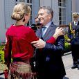 La reine Maxima des Pays-Bas rencontre le président de l'Argentine Mauricio Macri à Buenos Aires le 12 octobre 2016. 12/10/2016 - Buenos Aires