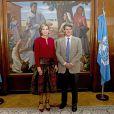 La reine Maxima des Pays-Bas rencontre le ministre des finances d'Argentine Alfonso Prat Gay à Buenos Aires le 12 octobre 2016. 12/10/2016 - Buenos Aires