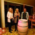 Julie Gayet et Valérie Rousselle lors de la soirée caritative à l'occasion du mois Octobre Rose, le 14 octobre 2016, au Château Roubine à Lorgues