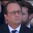 François Hollande assiste à la cérémonie en hommage aux victimes des attentats de Nice organisée à Nice le 15 octobre 2016.