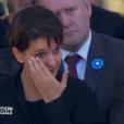 Najat Vallaud-Belkacem assiste à la cérémonie en hommage aux victimes des attentats de Nice organisée à Nice le 15 octobre 2016.