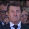 Christian Estrosi assiste à la cérémonie en hommage aux victimes des attentats de Nice organisée à Nice le 15 octobre 2016.