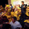 "Jean Dujardin - Présentation du film ""Brice 3"" au cinéma Rex d'Hossegor, le 25 septembre 2016. © Bernard-Dequier/Bestimage"