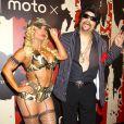 """Coco Austin, Ice T - 15ème soirée """"Moto X"""" d' Hallloween parrainé par svedka Vodka au TAO Downtown le 31 Octobre, 2014 à New York."""
