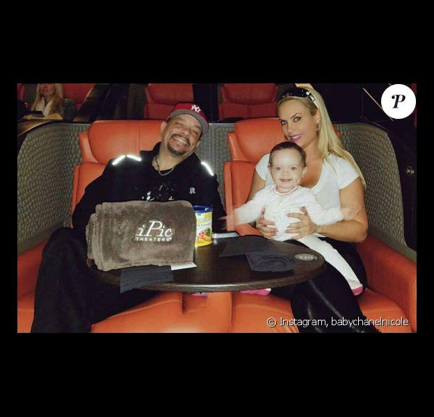 Le rappeur Ice-T ainsi que sa femme Coco Austin et leur fille Chanel Nicole. Photo publiée sur Instagram au mois d'octobre 2016