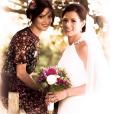 Cathriona White au mariage de sa soeur en août 2014.