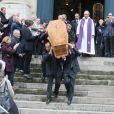 Sorties des obsèques de Pierre Etaix en l'église Saint-Roch à Paris le 19 octobre 2016. © CVS/Bestimage