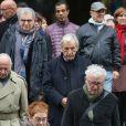 Exclusif - Serge Toubiana, Constantin Costa-Gavras - Sorties des obsèques de Pierre Etaix en l'église Saint-Roch à Paris le 19 octobre 2016. © CVS/Bestimage
