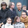 Exclusif - Mathilda May, Christophe Malavoy - Sorties des obsèques de Pierre Etaix en l'église Saint-Roch à Paris le 19 octobre 2016. © CVS/Bestimage
