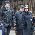 Krystyna Janda -Les funérailles du réalisateur polonais Andrzej Wajda à Cracovie le 19 octobre 2016