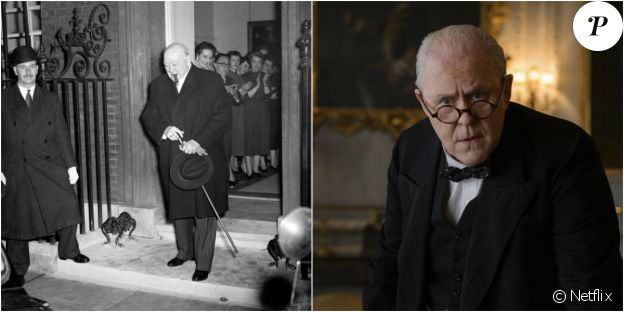 John Lithgow est Winston Churchill dans The Crown, une série originale Netflix (2016).