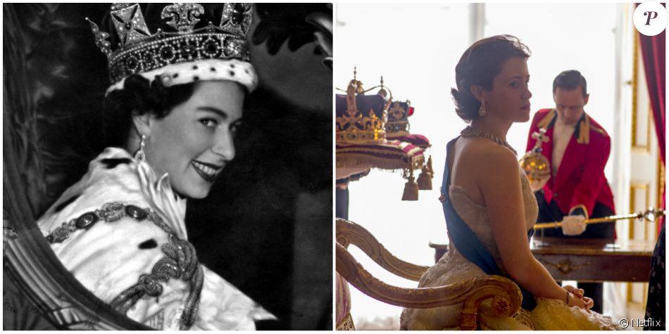Claire Foy est Elisabeth II dans The Crown une série originale Netflix (2016).