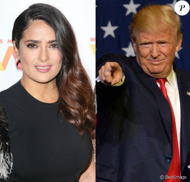 Salma Hayek balance un dossier ridicule sur Donald Trump
