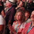 Exclusif - Cindy Crawford et son mari Rande Gerber assistent au concert de Paul McCartney lors du festival Desert Trip à Indio en Californie le 8 octobre 2016.