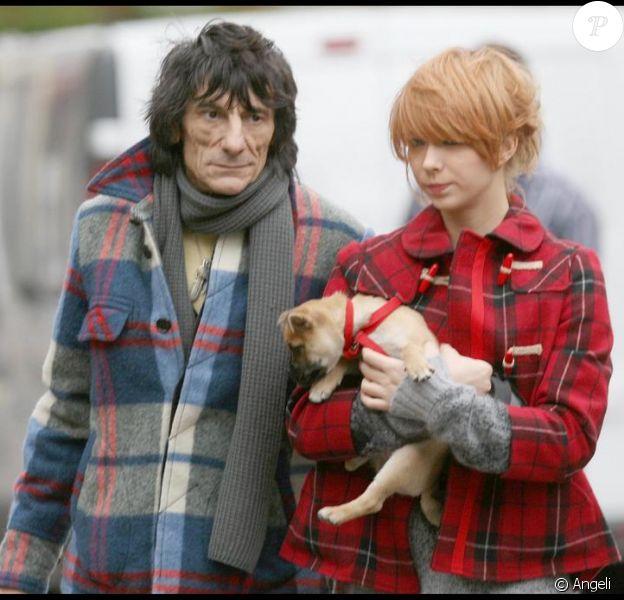 Ronnie Wood et sa petite amie