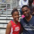 Tyson Gay et sa fille Trinity Gay, sur Facebook. L'adolescente de 15 ans a été tuée par une balle perdue lors d'une fusillade dans la nuit du 15 au 16 octobre 2016 à Lexington, Kentucky.