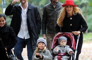 Michelle Hunziker : Dimanche au musée avec son bel héritier et leurs filles