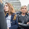 Laurence Ferrari - Rassemblement devant les locaux d'iTÉLÉ à Boulogne-Billancourt au neuvième jour de grève de la société des journalistes. Le 25 octobre 2016.