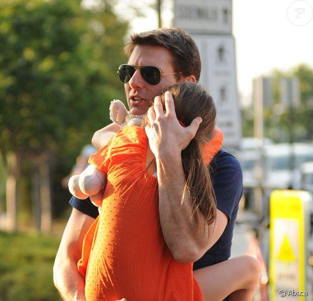 Tom Cruise et Suri au Chelsea Piers de New York le 17 juillet 2012